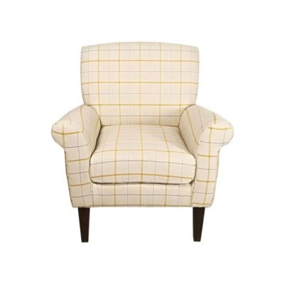 Erin Accent Chair-butterscotch plaid