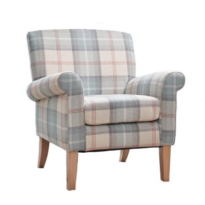 Erin Accent chair - peppermint plaid