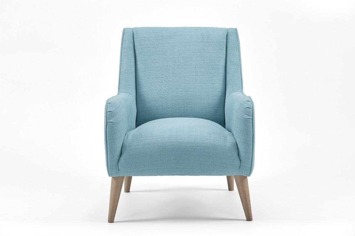 Image of Aurora Fabric Armchair - Blue