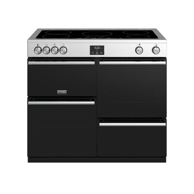 Stoves 444410757 Precision Deluxe 100cm Electric Induction Range Cooker - Black