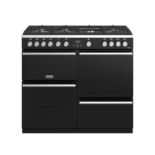 Stoves 444410763 Precision Deluxe 100cm Gas Range Cooker - Black