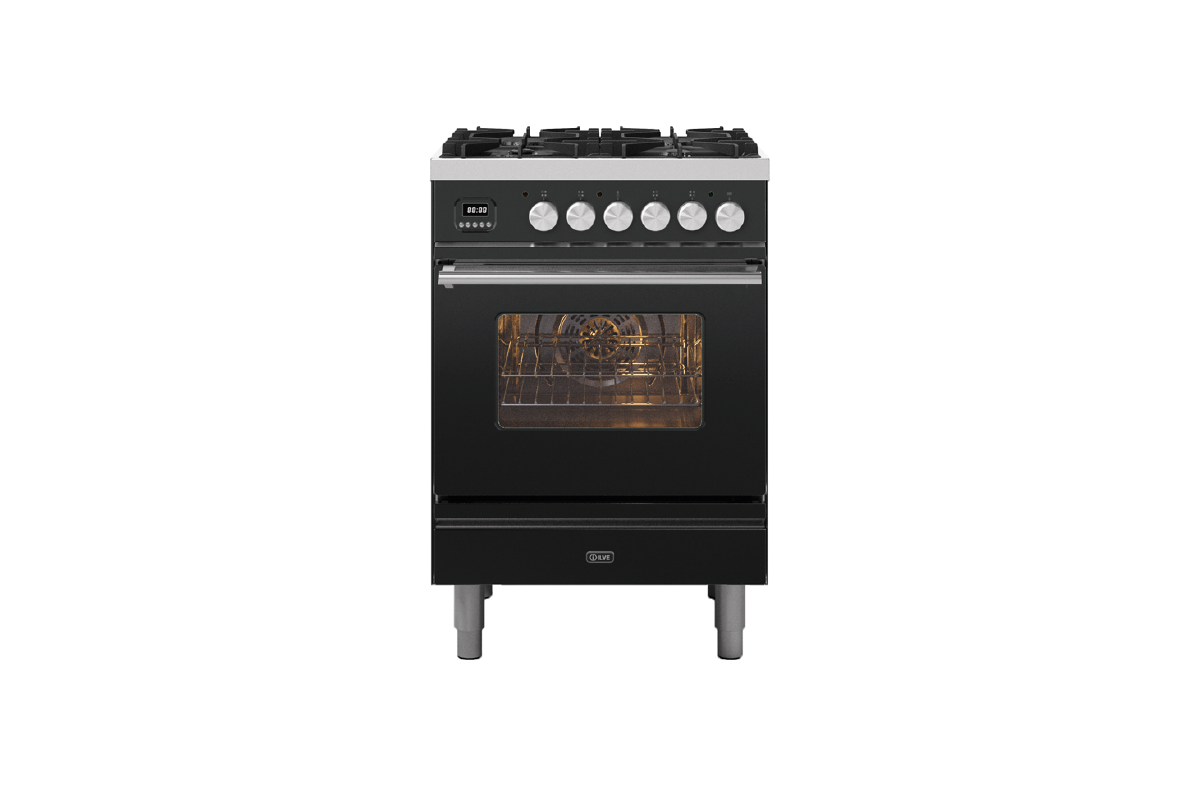 Image of Ilve P06WE3/MG Roma 60cm Dual Fuel Range Cooker - Graphite