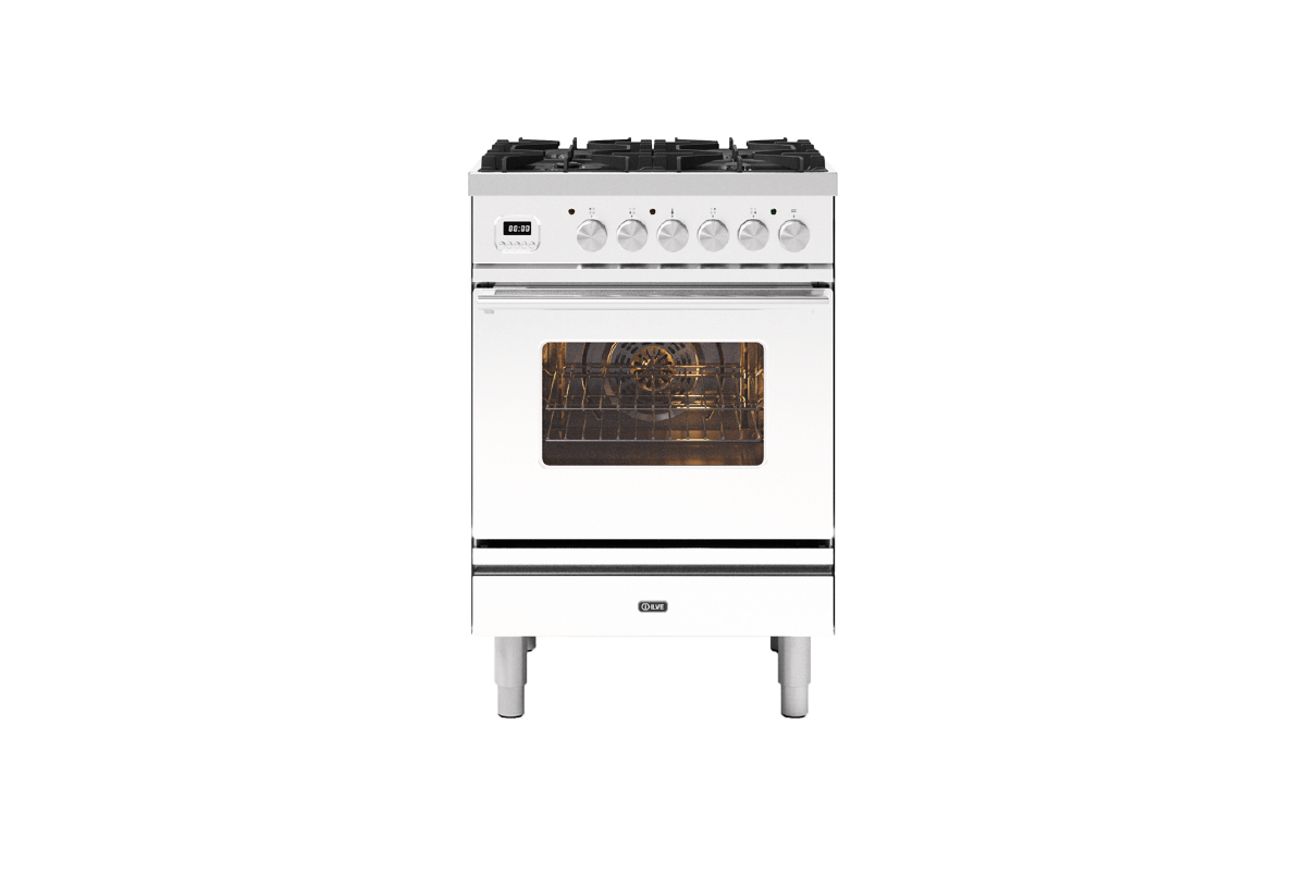 Image of Ilve P06WE3/WH Roma 60cm Dual Fuel Range Cooker - White