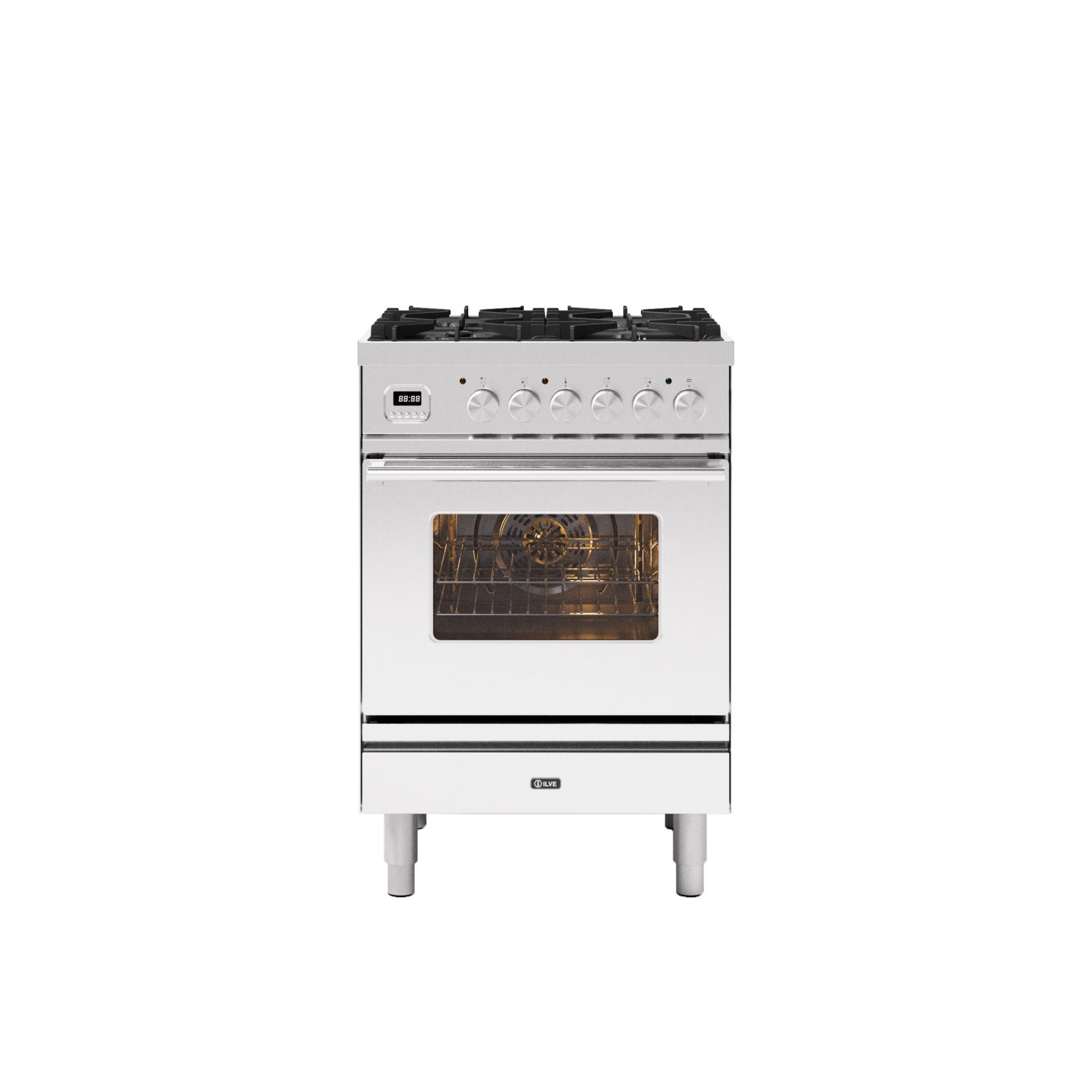 Image of Ilve P06WE3/SS Roma 60cm Dual Fuel Range Cooker - Stainless Steel