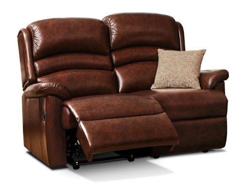 Sherborne Olivia Standard Leather Electric Reclining 2 Seater Sofa