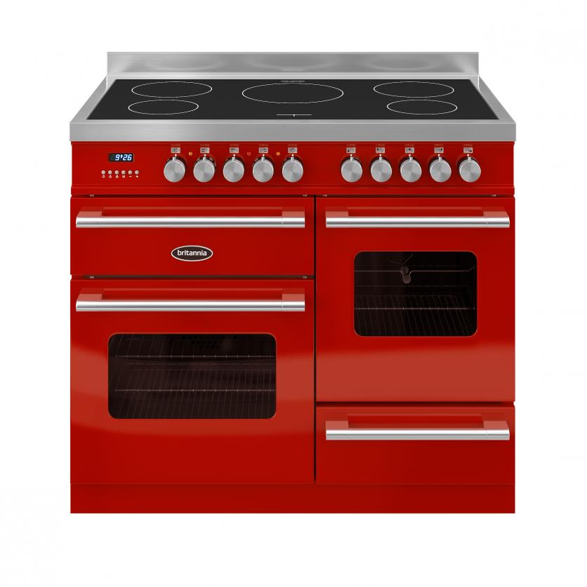 Image of Britannia 544440014 Delphi 100cm Induction Range Cooker - Red