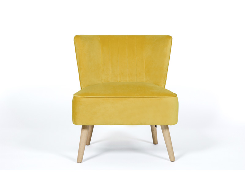 Image of Albie Fabric Cocktail Chair - Ochre