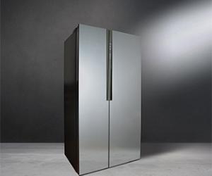 Large American style silver fridge freezer