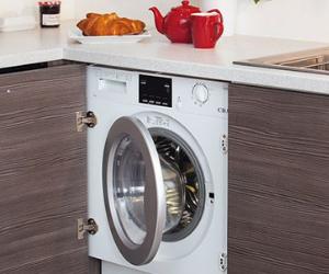 Integrated white washing machine