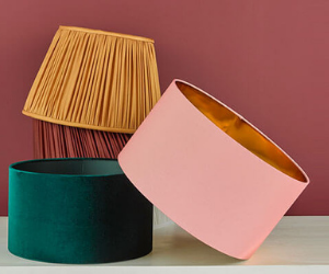 Dar lamp shades in various colours