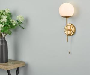 Dar Lighting gold wall light