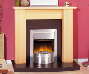 Dimplex inset fire with surround