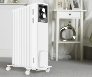 White Dimplex portable oil filled radiator