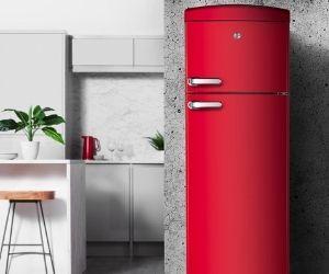 Hoover red retro fridge freezer