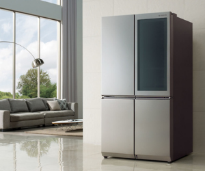 LG Instaview door-in-door American fridge freezer in silver