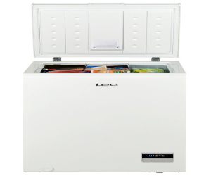 Lec chest freezer with open lid