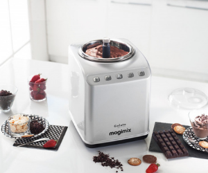 Silver Magimix gelato ice cream maker
