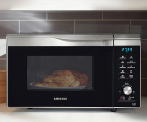 Samsung microwave warming food