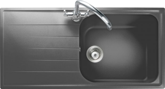 Image of Rangemaster AME1051DG Amethyst Dove Grey 1 Bowl Inset Sink