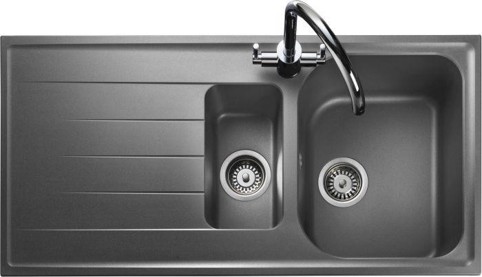 Image of Rangemaster AME1052DG Amethyst Dove Grey 1.5 Bowls Inset Sink