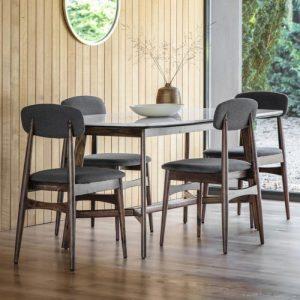Badalonia 160cm Dark Acacia Wood Dining Table