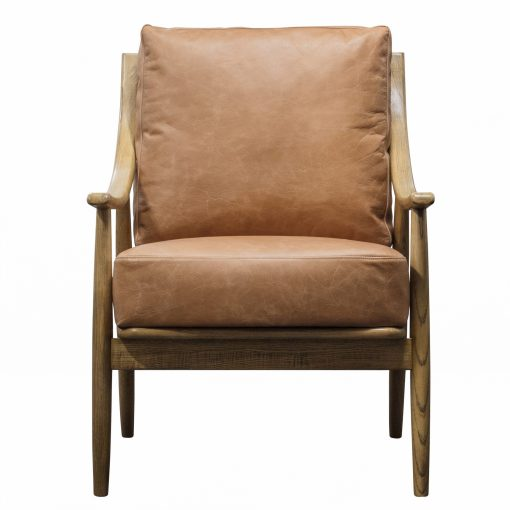 Ashley Brown Leather Armchair