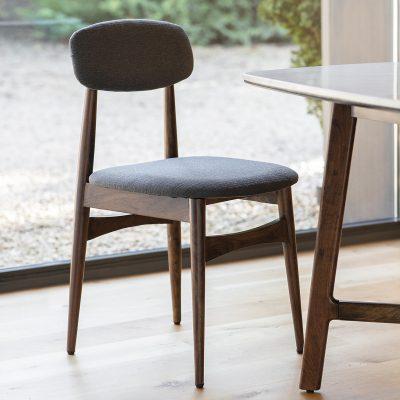 Badalonia Dark Acacia Wood Dining Chair (Set of 2) Image 2
