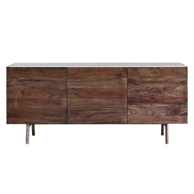 Badalonia Dark Acacia Wood Sideboard Image 1