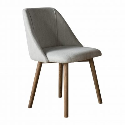 Billy Linen Dining Chair in Neutral Image 1