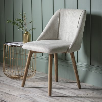 Billy Linen Dining Chair in Neutral Image 2