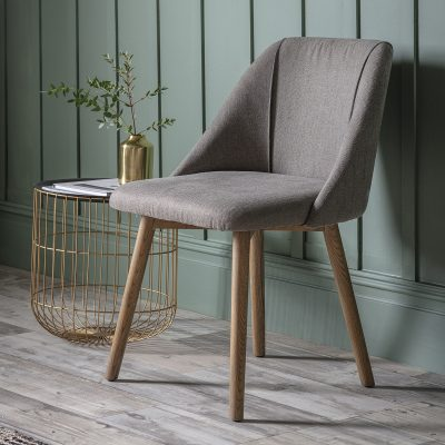Billy Linen Dining Chair in Slate Grey (Set of 2) Image 2