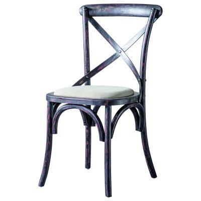 Café Oak Dining Chair in Black (Set of 2) Image 1