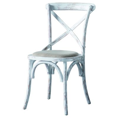 Café Oak Dining Chair in White