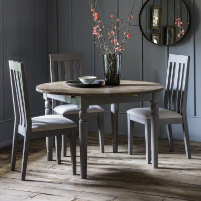 Dean 120cm-155cm Extending Round Dining Table