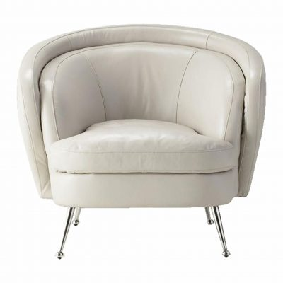 Desirea Leather Tub Chair in Cream