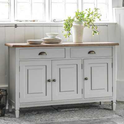 Emily Mahogany Sideboard in Taupe