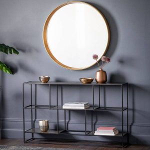 Madson Metal Sideboard – Antique Silver Lifestyle
