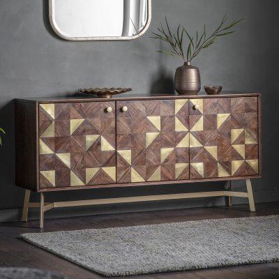 Moderna Dark Acacia Wood Sideboard Image 2