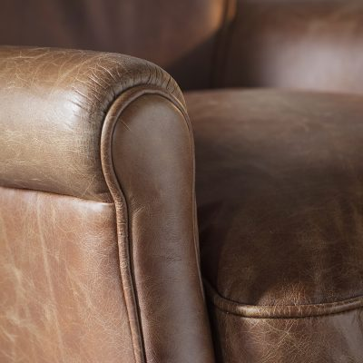 Pugsey Leather Chair in Vintage Brown