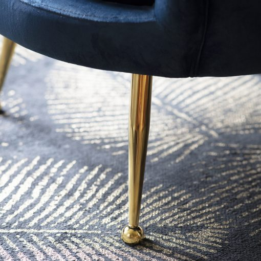 Roche Fabric Armchair in Inky Blue