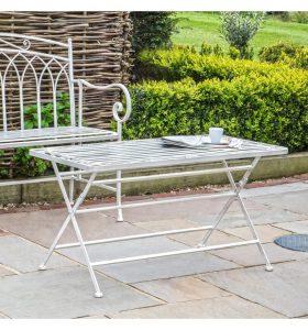 Polo Metal Coffee Table – White
