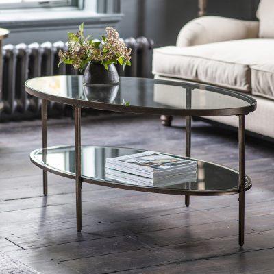 Adoi Metal Coffee Table in Bronze