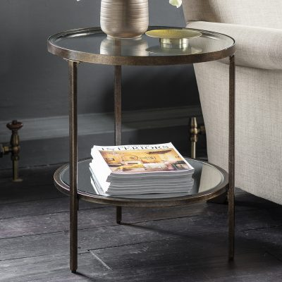 Adoi Metal Side Table in Bronze