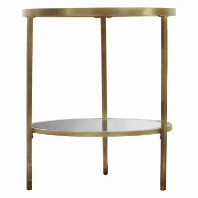 Adoi Metal Side Table in Champagne