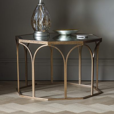 Archie Metal Coffee Table in Gold