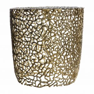 Arden Metal Side Table in Gold