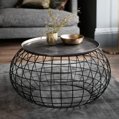 Atkinson Metal Coffee Table in Silver
