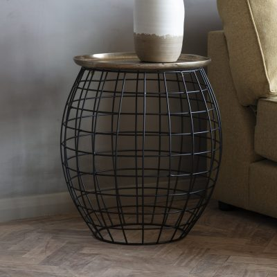 Atkinson Metal Side Table in Gold