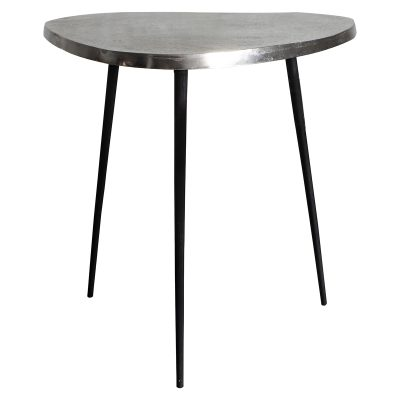 Atlus Large Metal Side Table in Silver