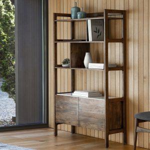 Badalonia Dark Acacia Wood Display Unit